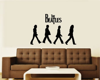 The Beatles Abbey Road Silhouette Vinyl Wall Art Decal Sticker Graphic