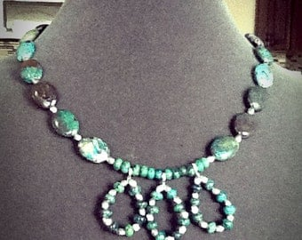 Green Envy Stone Necklace