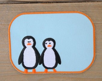 Penguins iron on patch