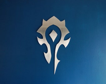 Warcraft Horde Banner - Metal Wall Art