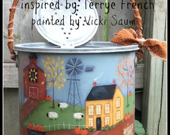 Pumpkin Patch Farm by Vicki Saum, E-Pattern