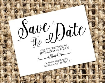 Printable Save the Date - Modern Calligraphy