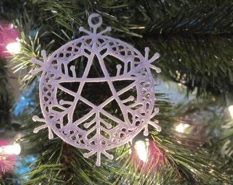 Lace Snowflake Pentacle