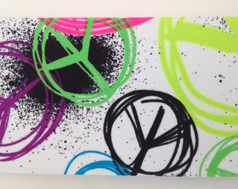 Colorful Peace Signs Spandex Headband