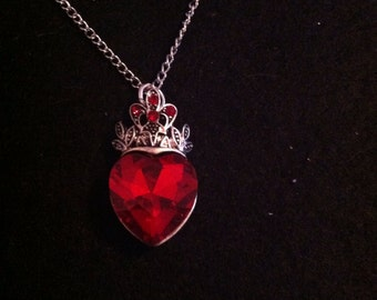 LAST ONE Queen Ruby Red Heart Necklace