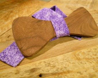 Wooden Bow Tie - Black Walnut