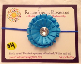 Blue Ribbon Swirl headband