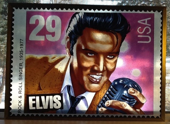 Vintage 1993 Elvis Presley Stained Glass Type Art Of The 29