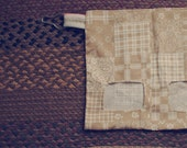 Tennessee Picnic - Guinea Pig Hay Sack / Guinea Pig Hay Pouch / Country Print / Tan, White / Bandana / Hay Bag