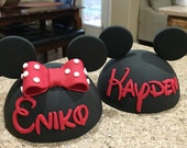 Mickey Mouse Head or Minnie Mouse Head Inspired  Cake Topper
