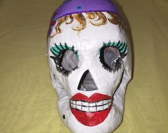 Gypsy Hand Painted Paper Mache Sugar Skull
