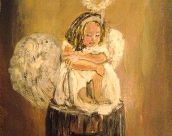 """Printed of my Original Acrylic Painting """" A little Angel"""""""