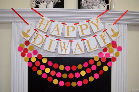 Classroom Decoration Ideas For Diwali ~ Happy diwali banner sign