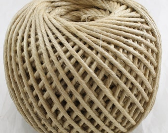 Jute twine / Rope 4mm x 100 yards, great for decoration and twine/rope is good for tying. strong highquality. great fro crafts (BR05-12)