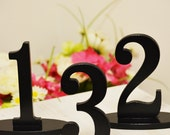 PAINTED Wedding Table Numbers for Weddings and Events Wedding Decor for Wedding Table Numbers, Wedding Signs