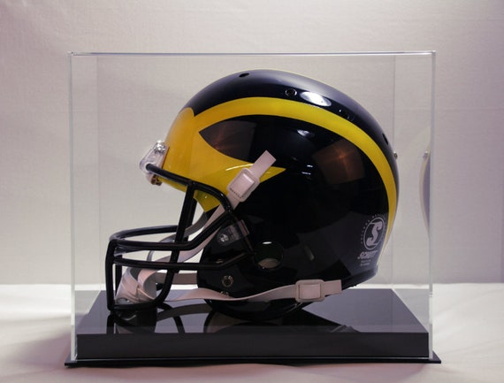 Football helmet display case full size memorabilia 85% UV