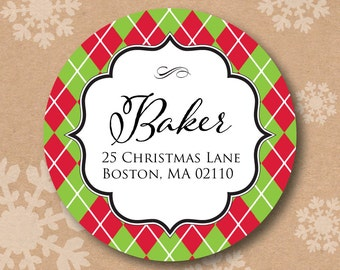 Items similar to Christmas & Holiday Return Address Labels (Custom ...