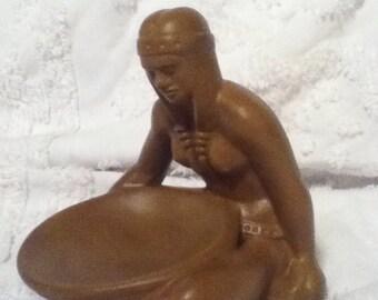 Indian maiden frankoma pottery