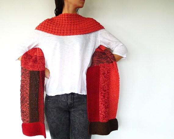 Bufanda de colores para mujer. Bufandas modernas. Bufandas originales hechas a mano. Bufandas