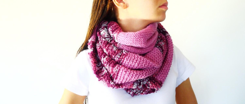 Cuello de lana para mujer bufandas de punto por keenbyam - Bufandas de lana originales ...