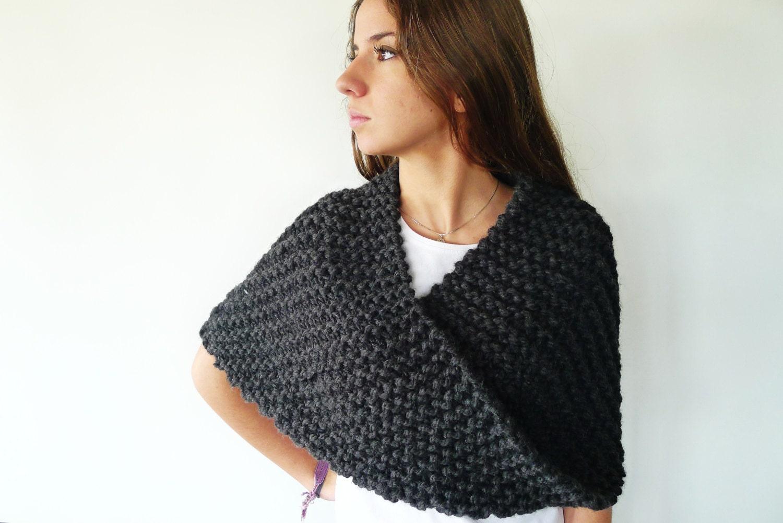 Poncho de lana para mujer cuellos originales hechos a mano - Bufandas de lana originales ...
