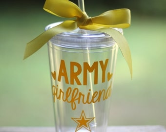 ON SALE! Any Color: Army Girlfriend/Mom/Wife/Etc 16 oz Tumbler