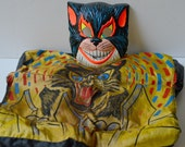 Vintage black cat Halloween costume by Ben Cooper; Spook Town black cat costume child's size large