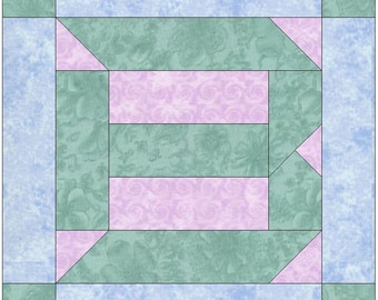 Letter B Paper Piece Foundation Quilting Block Pattern