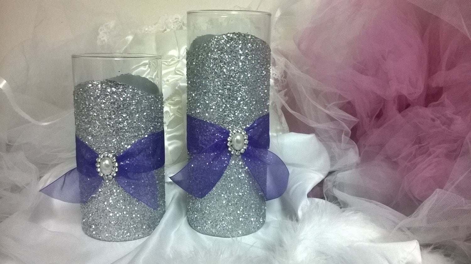 Glitter vase wedding centerpiece decorations