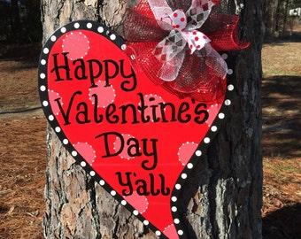 Valentine door hanger,Valentine heart door hanger,valentine wreath,valentine heart door decor,Valentine door decor,trendy door decor