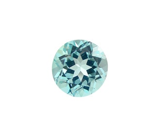 8mm Sky Blue Topaz Faceted Round Gemstone, Natural genuine Sky BLUE TOPAZ Round Faceted gemstone.....