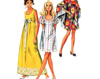 Simplicity Sewing Pattern 8738 Misses' Dress and Shawl Size:  8  Used