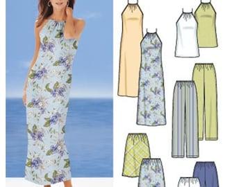 Simplicity Sewing Pattern 5507 Misses'/Miss Petite Dress, Top, Pants, Shorts, Bias Skirt  Size:  RR 14-16-18-20  Uncut