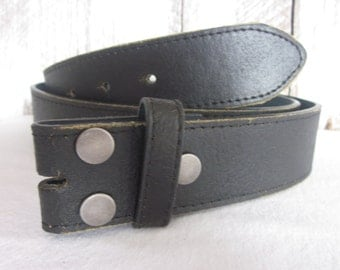 small * medium*  and large* sizes available distressed black leather snap belt