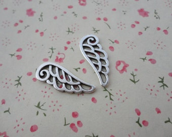 100pcs antique silver plated Metal Charms-Angel Wings / Eagle Wings charms pendant 24X9mm
