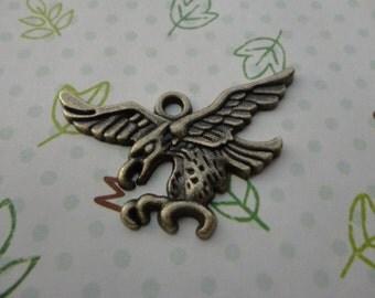 50pcs Antique bronze Metal Charms-eagle charms pendant 43X30mm