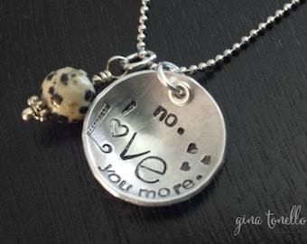 I Love You More Necklace, Love You More Necklace, Love Necklace , Love You Jewelry, Valentine Necklace, Love Charm, Valentines