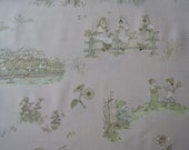 "Half yard of 2014 (31007-20) Lecien Kate Greenaway Fabric on Soft Peach Pink Background. Approx.  18"" x 44"" Made in Japan"