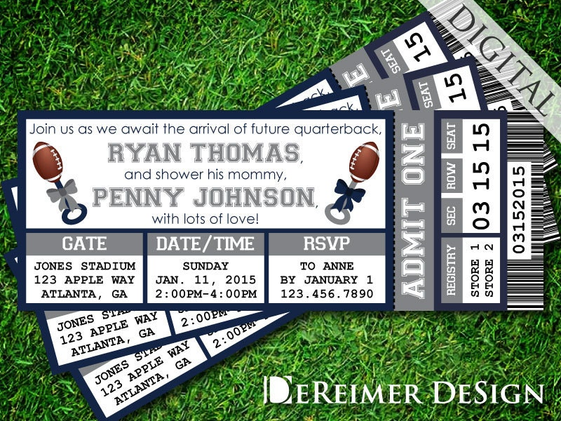 Dallas Cowboys Baby Shower Invitations is the best ideas you have to choose for invitation example