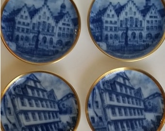 Vintage Kaiser Porcelain Plates (4) Frankfurt - 1988 Collectible Plate