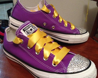 ADULT Lakers Bling Converse
