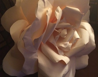 Giant Paper Rose Wall Art - 15""