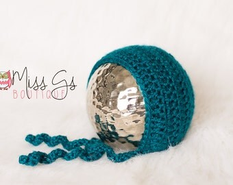 Teal Newborn Bonnet - Photography Prop