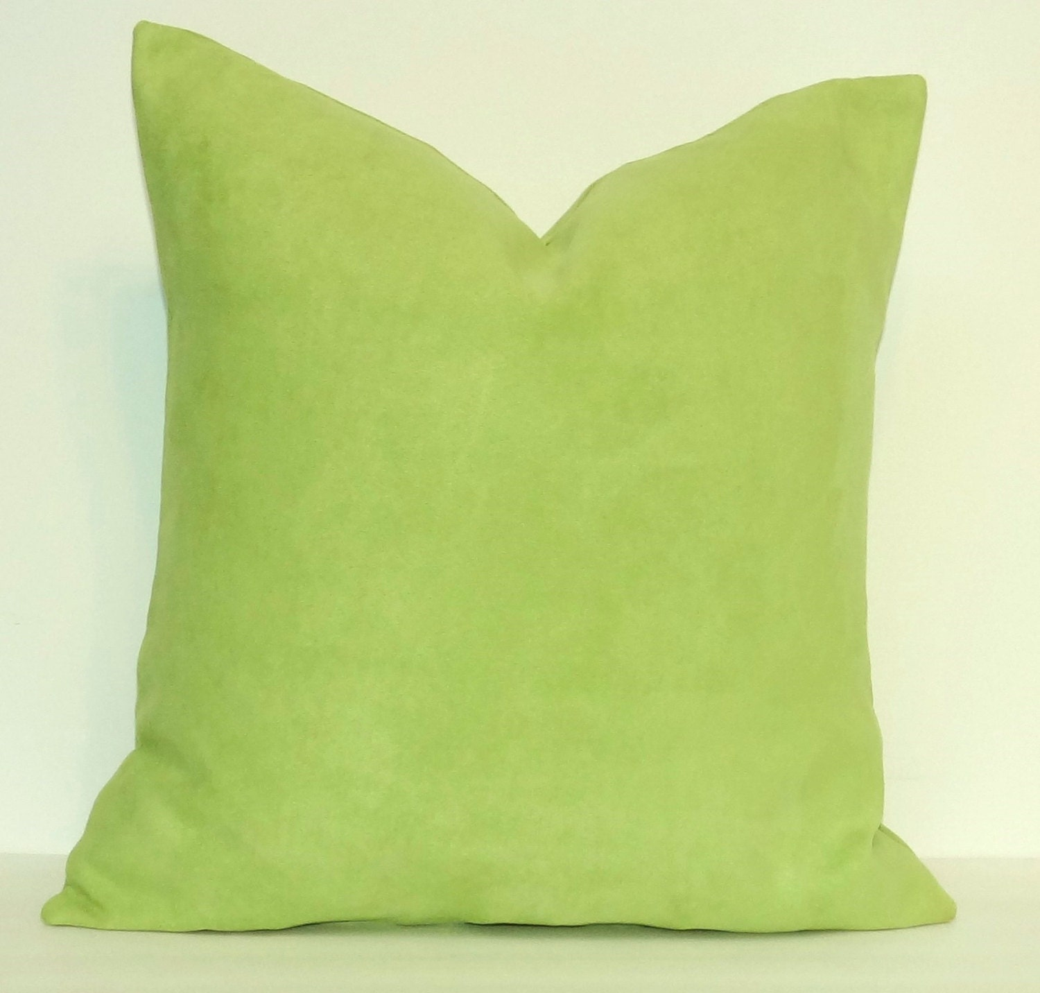 Throw Pillows Linen : Lime Green SuedeCloth Decorative Pillow Cover by OurLittleOlive