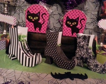Witch Boot or Witch Hat Favor Boxes