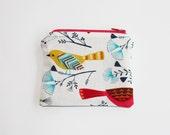 Coin Purse : Rainbow Bird / wallet, child's purse stocking filler