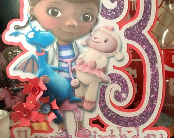 Doc Mcstuffins birthday card, doc mcstuffin birthday, disney birthday card, disney card, tv card, daugher birthday card