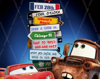 Disney Cars Printable Invitation