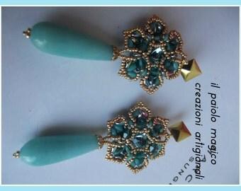 Baroque Flower Earrings-Baroque flower earrings