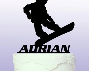 Personalised Snowboarding Cake Topper